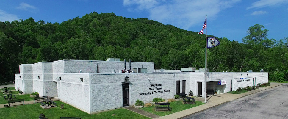 The outside of Southern West Virginia Community and Technical College's Boone Campus