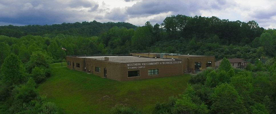 The outside of Southern West Virginia Community and Technical College's Wyoming Campus